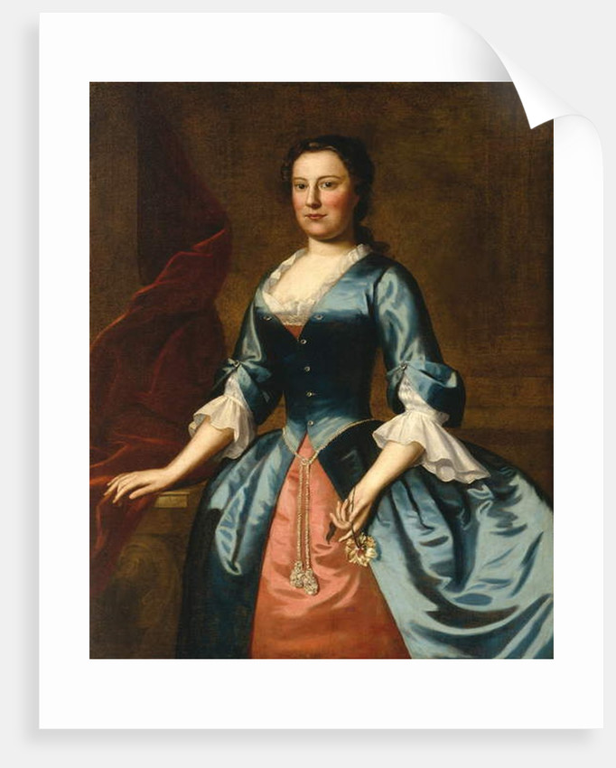 Portrait of Mrs. Samuel McCall, Sr., 1746 by Robert Feke