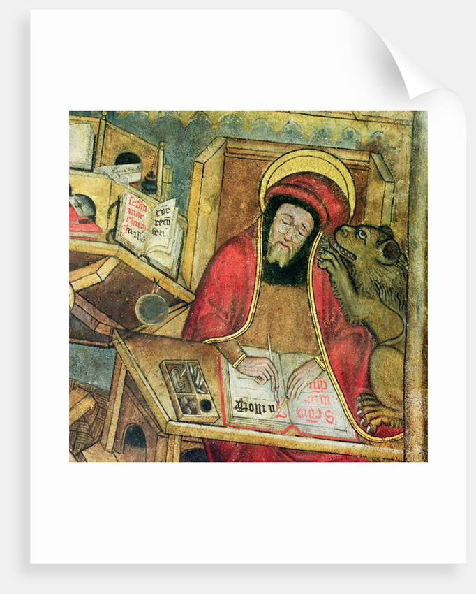 St. Mark writing his gospel by French School