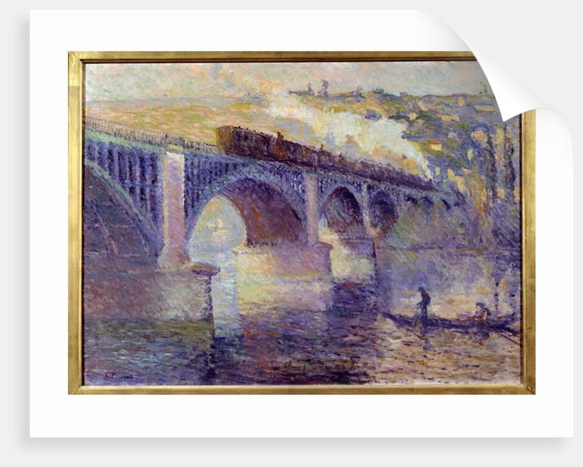 Le pont aux Anglais, sun setting by Robert Antoine Pinchon