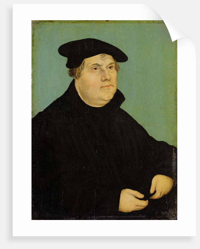 Portrait of Martin Luther after 1532 by Lucas Cranach