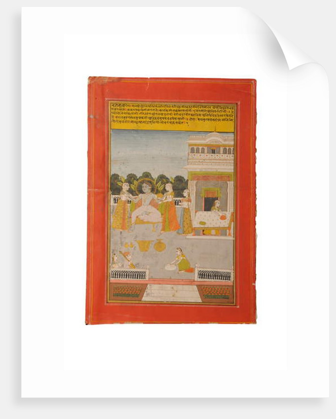 Ragamala miniature painting, Rajasthan probably Bundi, early 19th century by Rajasthani School