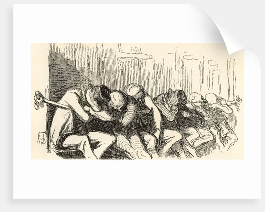 """A night shelter for the poor and homeless, provided by the Salvation Army in the 19th century, aka """"two penny hangover"""" by Anonymous"""