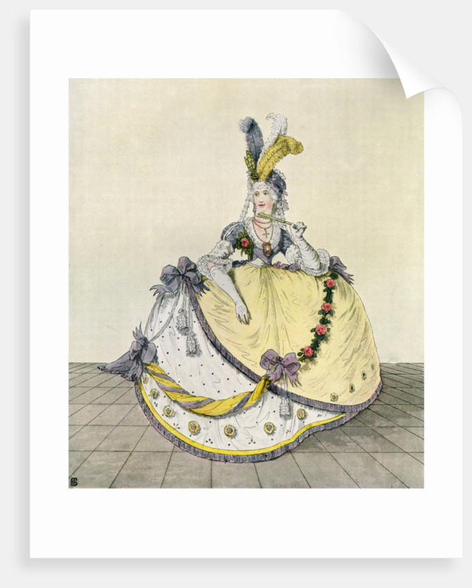 Lady in a ball gown at the English court, 1800 by Anonymous