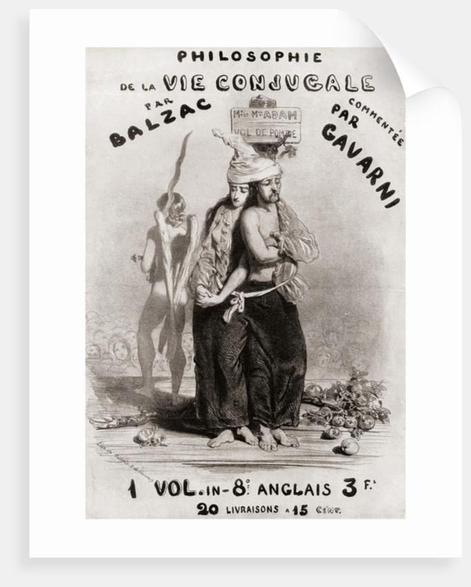 """Illustration by Paul Gavarni for """"Philosophie de la vie conjugale"""" by Honoré de Balzac, 19th century by Anonymous"""