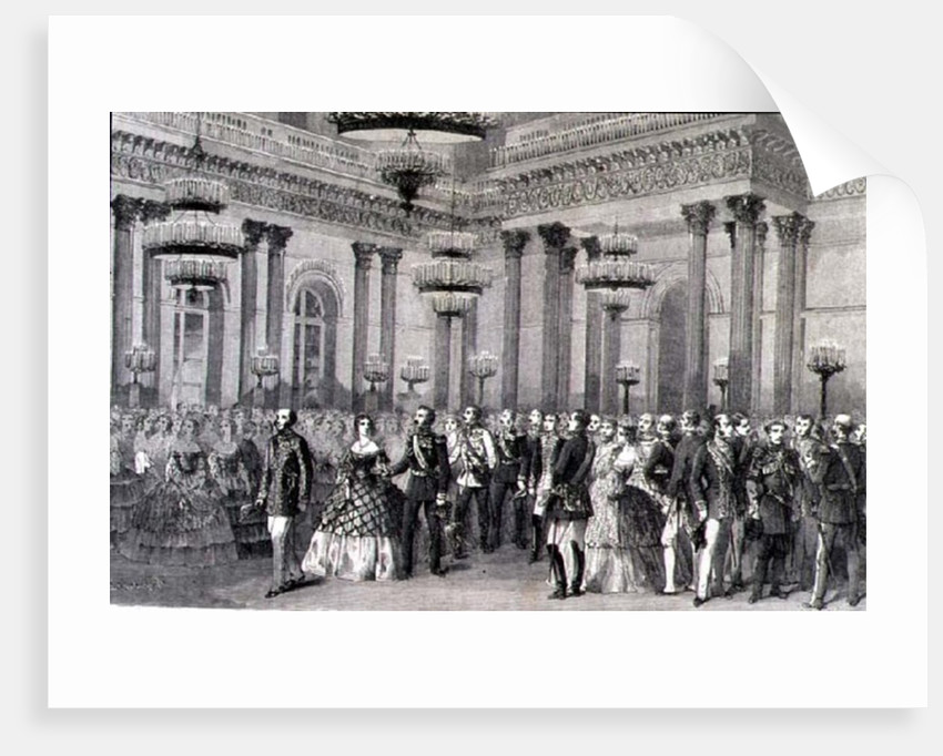 A St. Petersburg Ball in the 1860s by French School