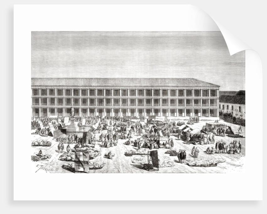 La Casa de los Portales, Plaza de Simon Bolivar by Spanish School