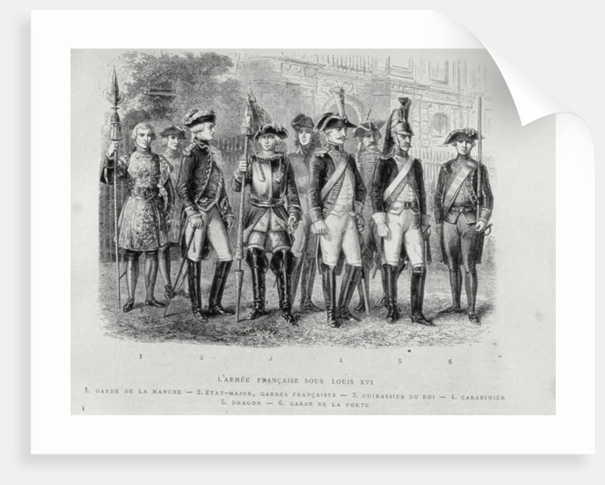 Uniforms of the French Army of Louis XVI by French School
