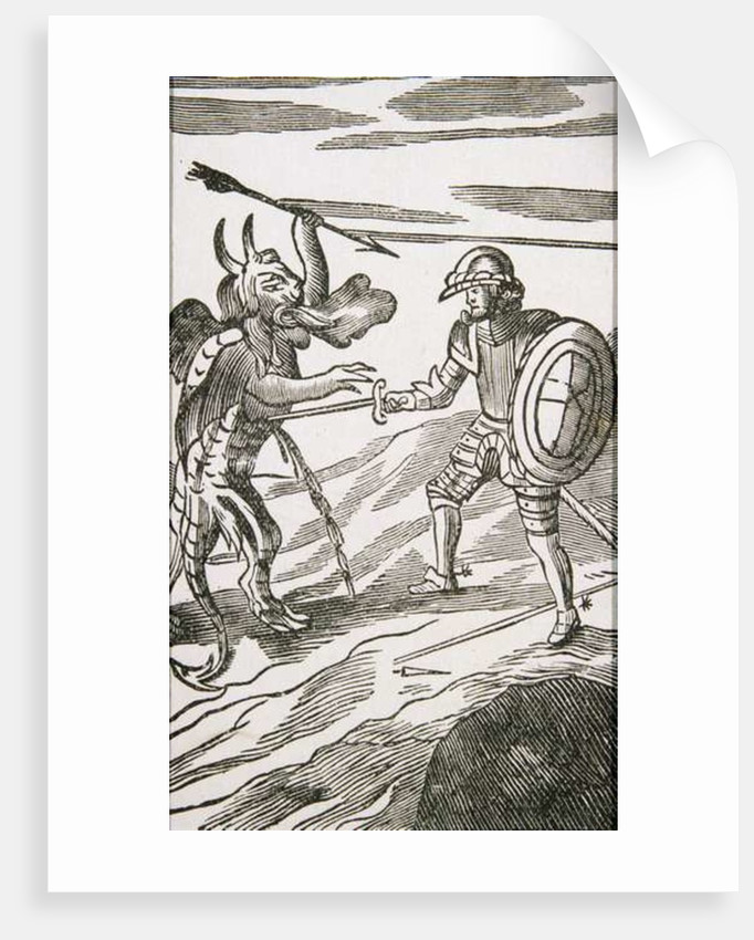 Christian and Apollyon by English School