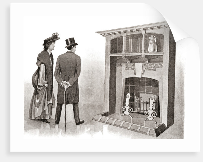 Advertisement for an early 20th century fireplace by Anonymous