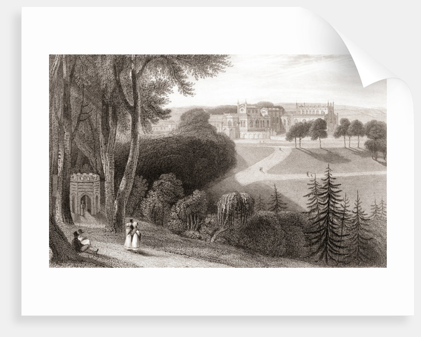 19th century view of Auckland Castle by Anonymous