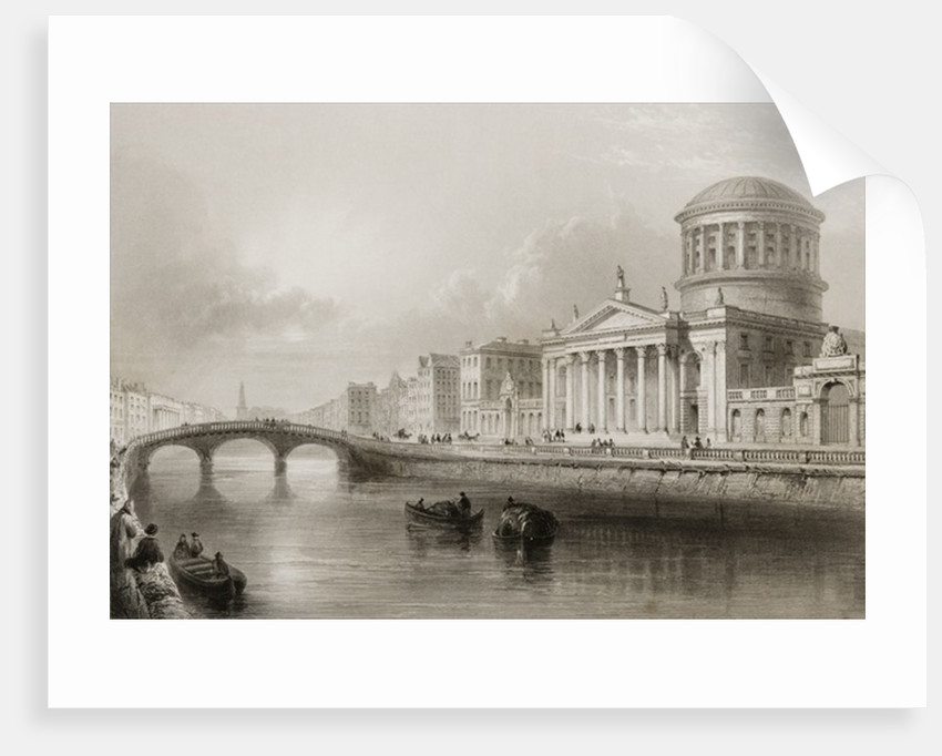 The Four Courts, Dublin by William Henry Bartlett
