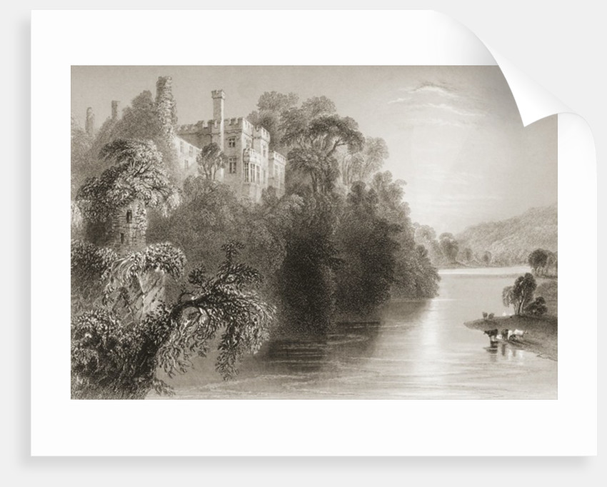 Lismore Castle, Lismore, County Waterford, Ireland by William Henry Bartlett