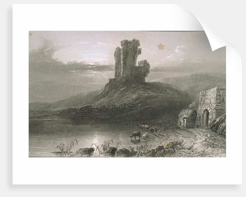 Kilcolman Castle, County Cork, Ireland by William Henry Bartlett