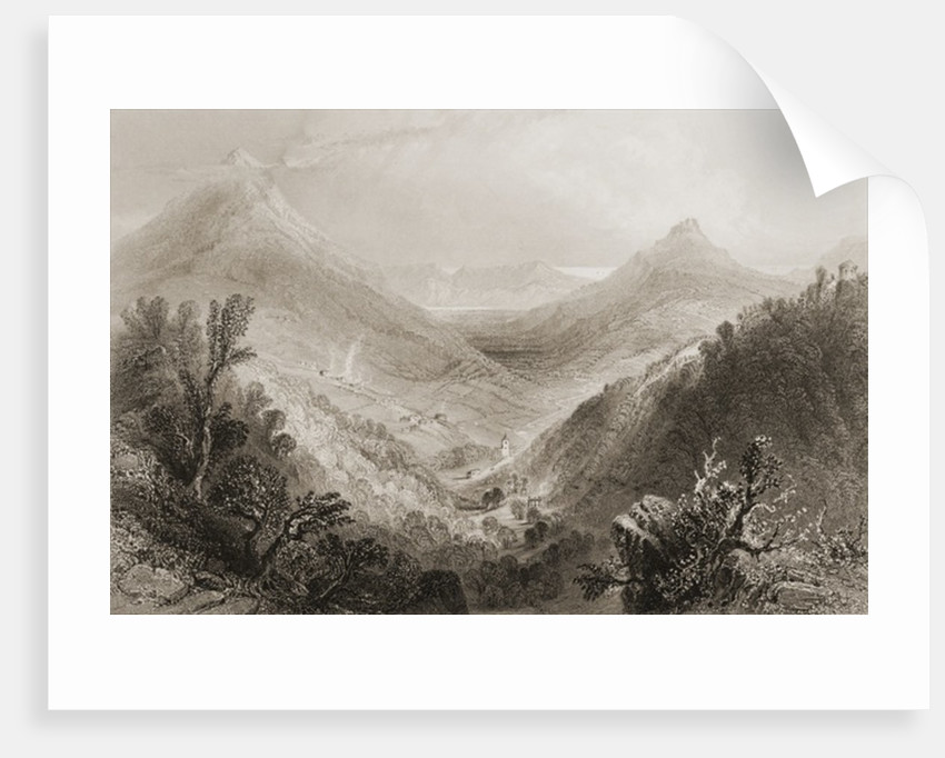 Glen of the Downs, County Wicklow, Ireland by William Henry Bartlett