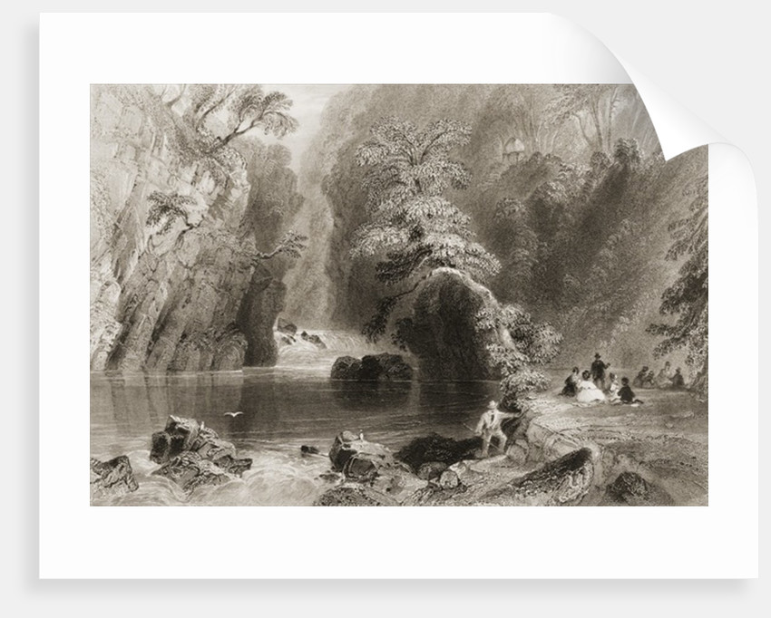 The Dargle River, County Wicklow by William Henry Bartlett