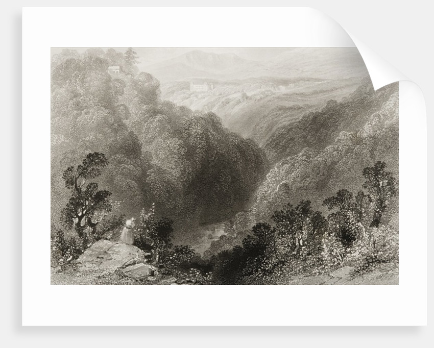 View of Powerscourt from the Dargle, County Wicklow by William Henry Bartlett
