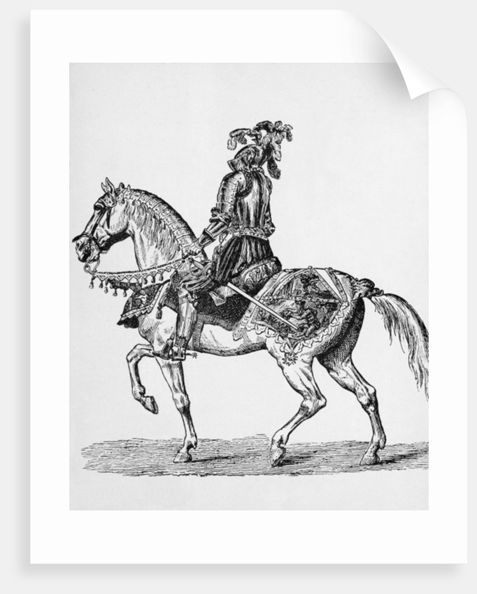 Knight on Horseback in Gala Attire of the 1400s by English School