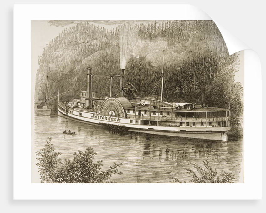 Excursion steamer on the Hudson River, in c.1870 by English School