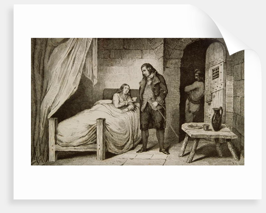 Louis XVII sick and imprisoned by French School
