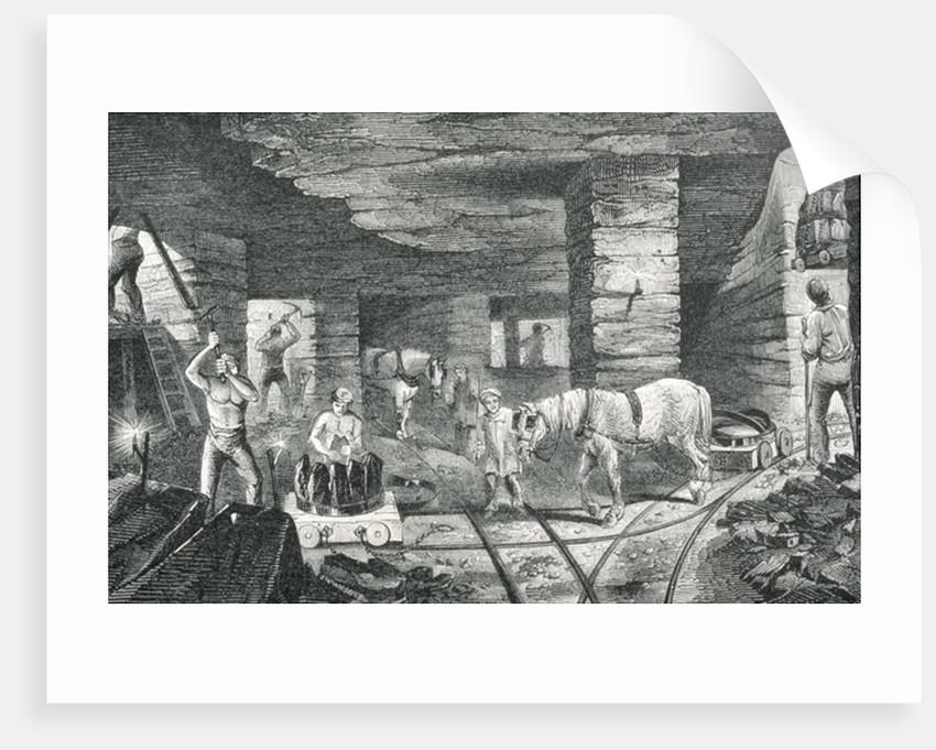 English Coal Mine by Josiah Wood Whymper