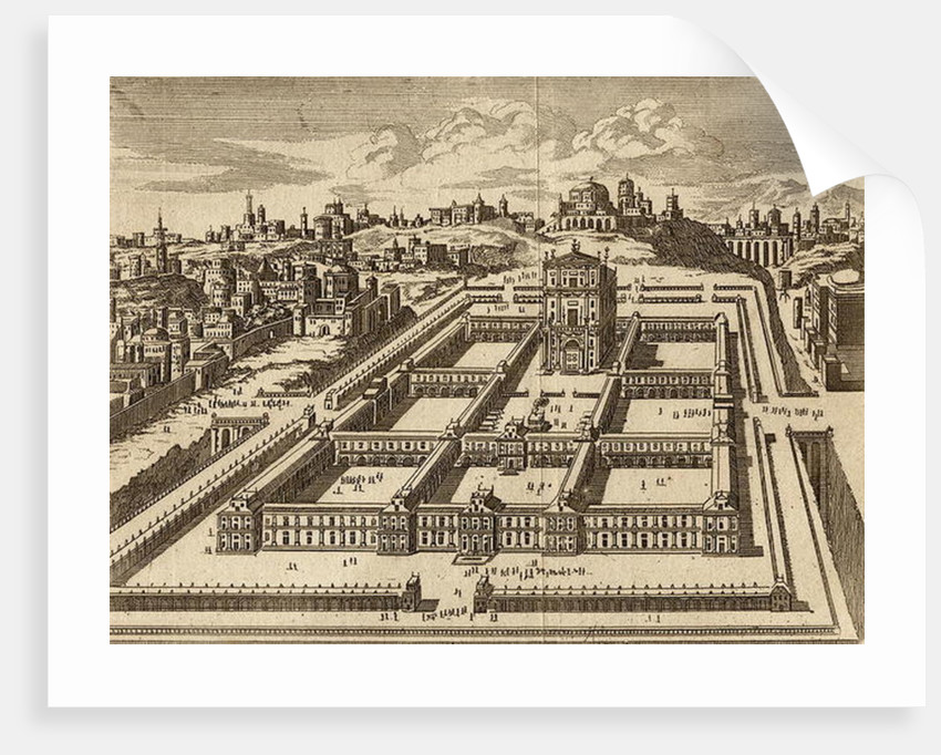 Elevation of the Temple of Jerusalem as built by Herod by English School