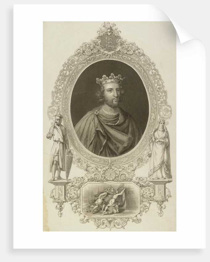 Henry III King of England from 'The Gallery of Portraits' by English School