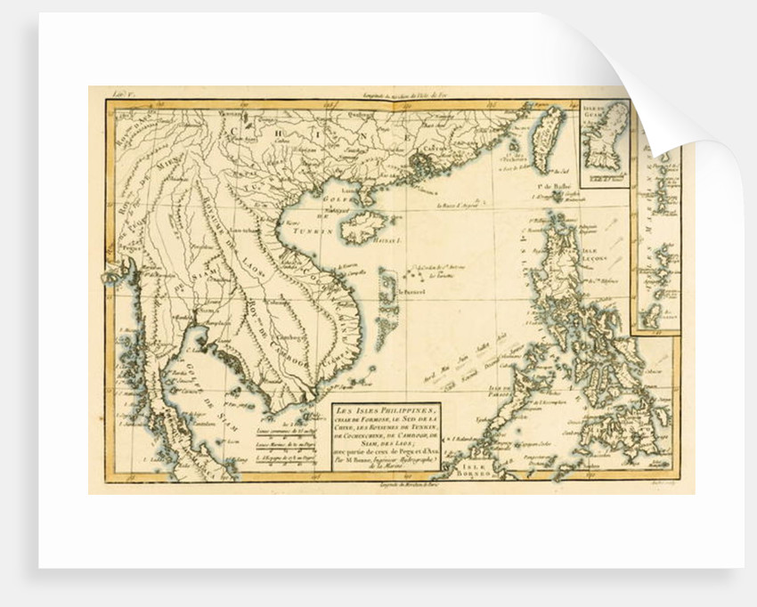 The Philippines, Formosa, South China, the Kingdoms of Tonkin, Cochin China, Cambodia, Siam, Laos, and part of those of Pegu and Ava by Charles Marie Rigobert Bonne