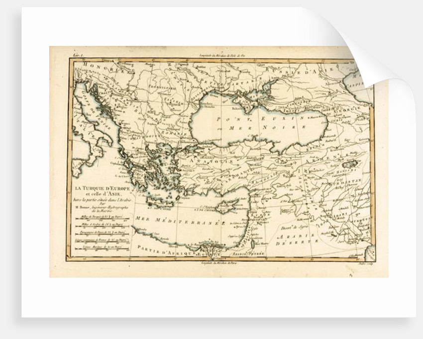 Turkey by Charles Marie Rigobert Bonne