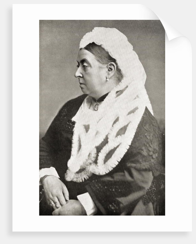 Queen Victoria at the age of sixty-six by English Photographer