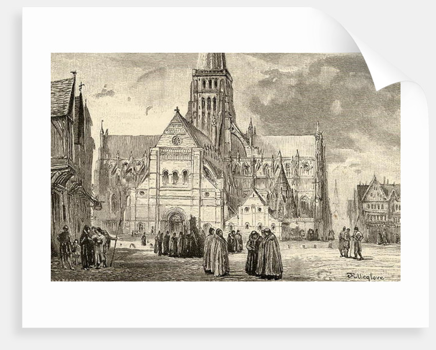 View of Old St. Paul's Cathedral by John Fulleylove