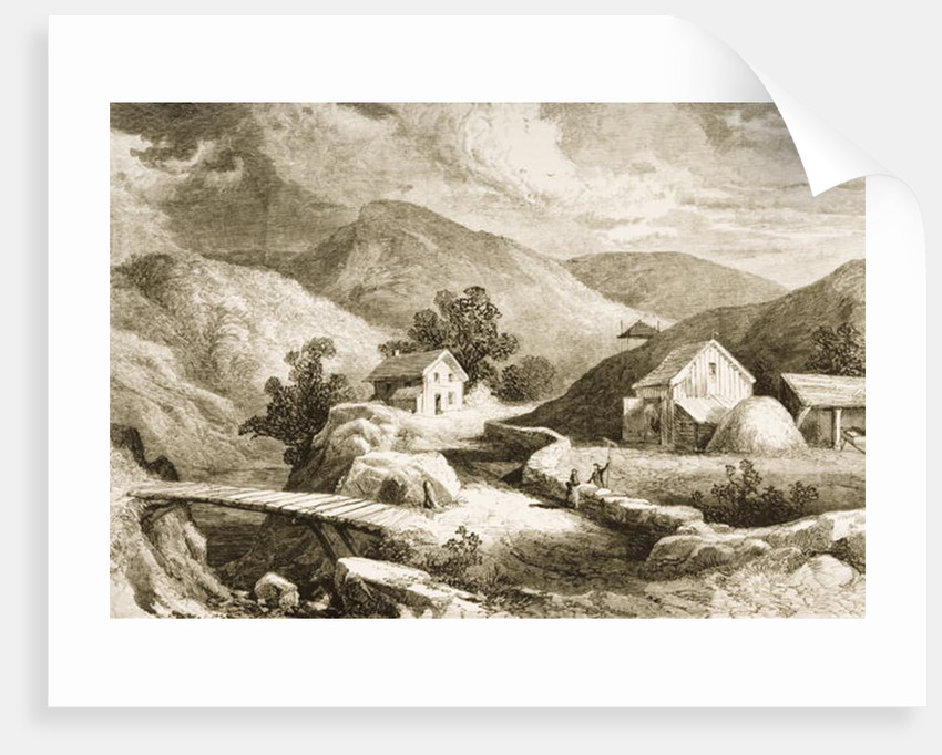 Hills of New England, c.1870 by English School