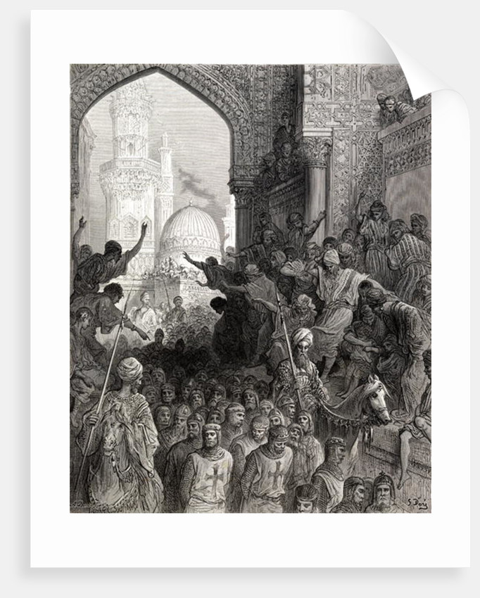 Arrival in Cairo of prisoners of Munich, illustration from 'Bibliotheque des Croisades' by J-F. Michaud by Gustave Dore