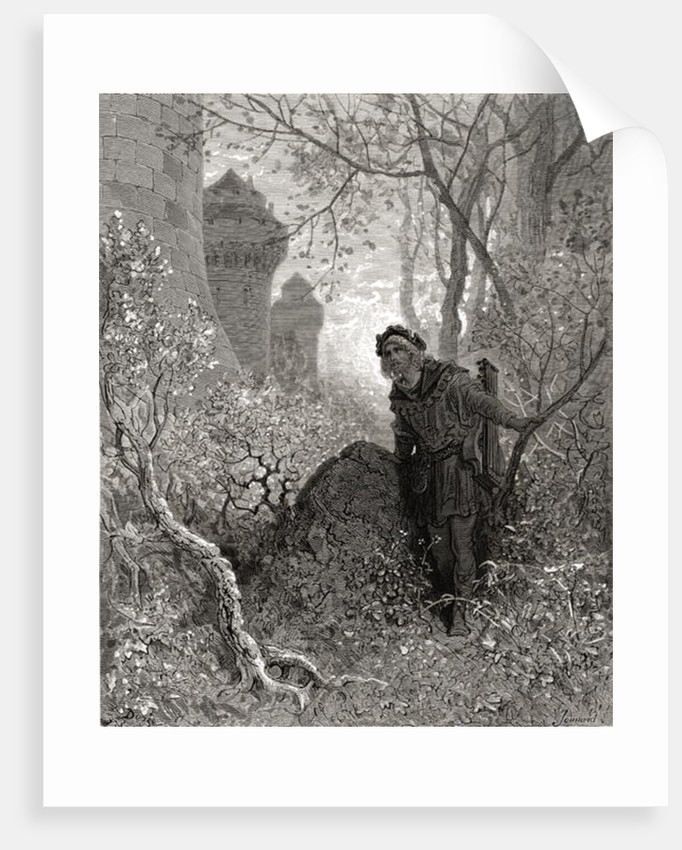 Blondel hears the voice of Richard the Lionheart by Gustave Dore