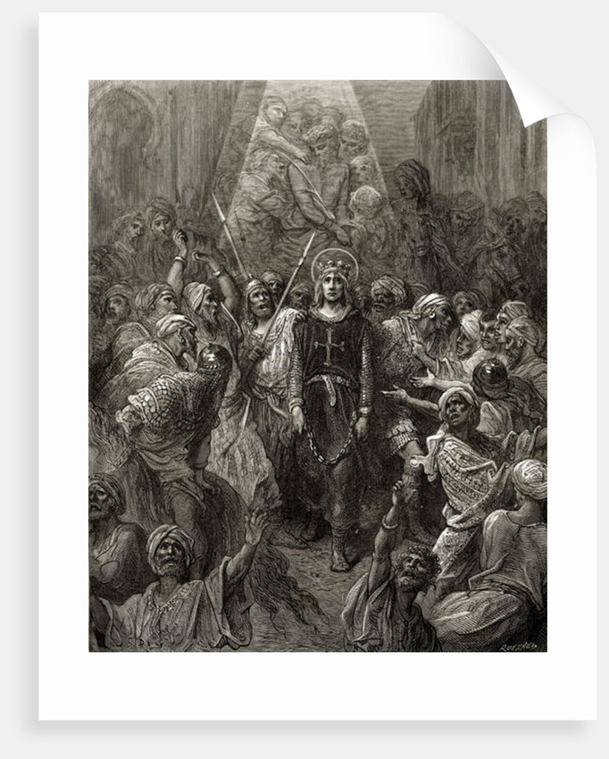 King Louis IX prisoner in Egypt by Gustave Dore