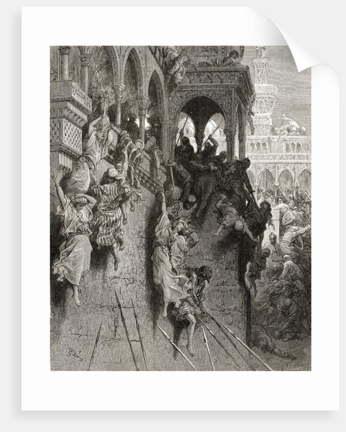 Massacre of Antioch, illustration from 'Bibliotheque des Croisades' by J-F. Michaud by Gustave Dore