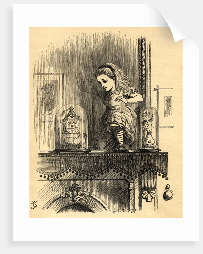 Alice in the Looking Glass House, illustration from 'Through the Looking Glass' by Lewis Carroll first published 1871 by John Tenniel