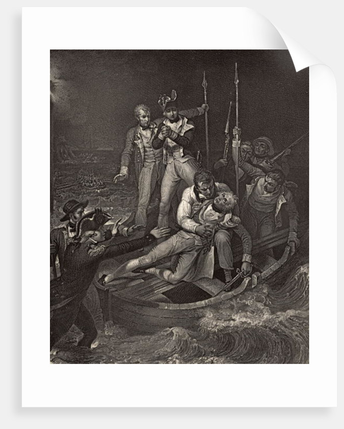 Nelson wounded at Tenerife in 1787 by Richard Westall