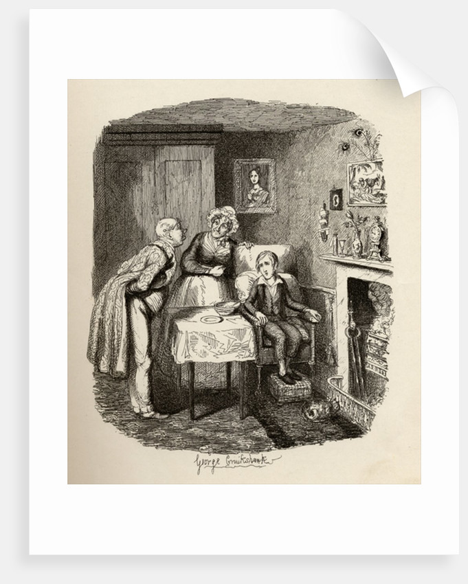 Oliver recovering from the fever by George Cruikshank