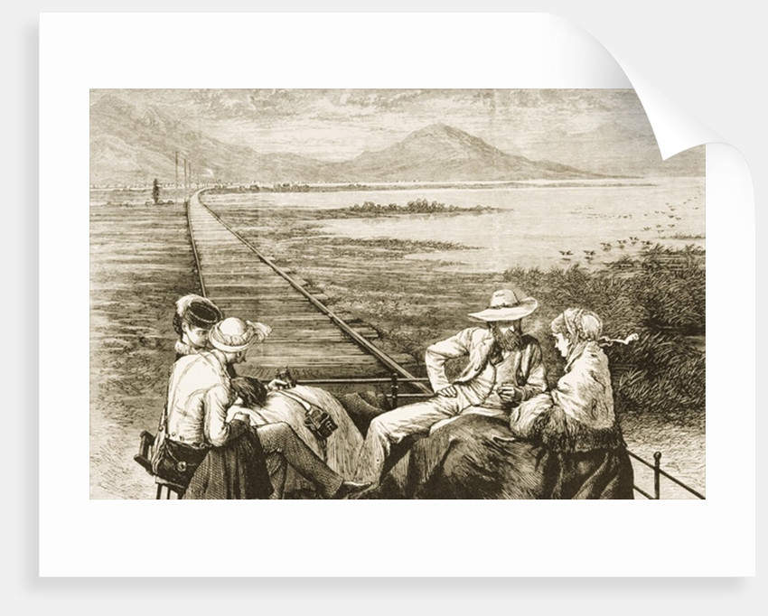 An inspection car on the Pacific Railway appraoching the Great Salt Lake by Reverend Samuel Manning