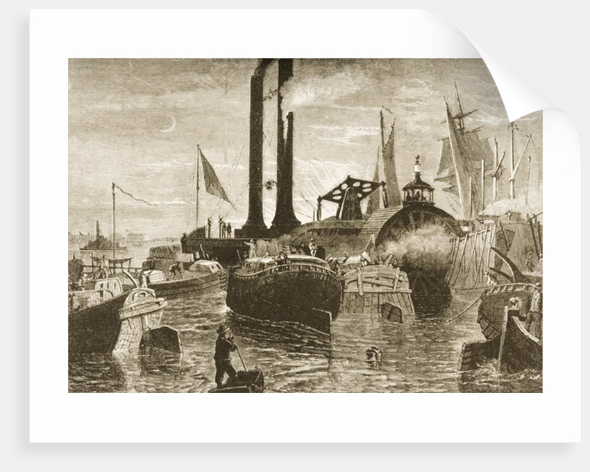 A grain fleet in New York harbour in the 1870s by Reverend Samuel Manning