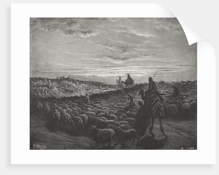 Abraham Journeying Into the Land of Canaan, Genesis 13:1-4 by Gustave Dore