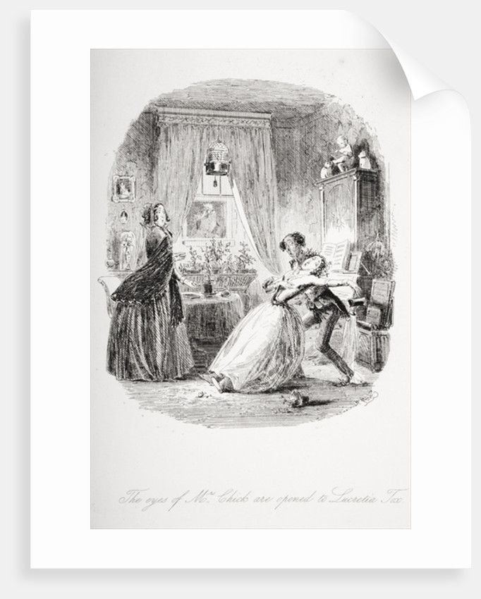 The eyes of Mrs. Chick are opened to Lucretia Tox by Hablot Knight Browne