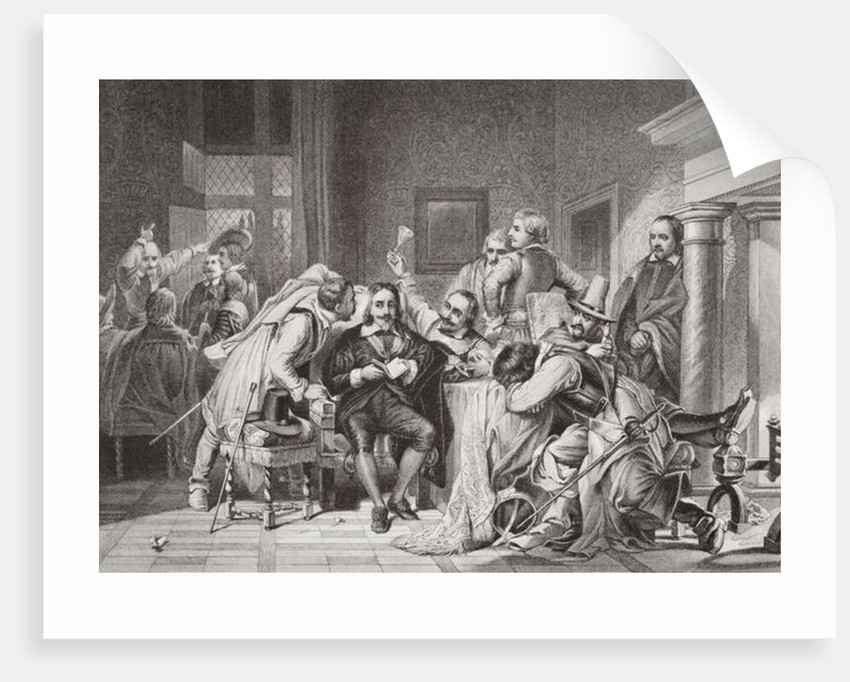 Charles I in the guard room insulted by Oliver Cromwell's soldiers by Hippolyte Delaroche