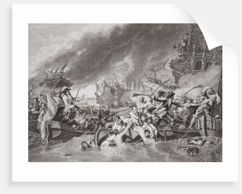 The Battle of La Hogue, Destruction of the French fleet, May 22, 1692 by Benjamin West