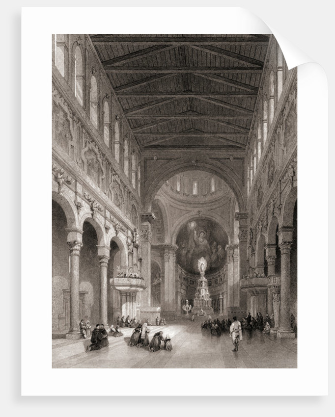 Interior of the Cathedral at Messina, Sicily, Italy by Unknown Artist