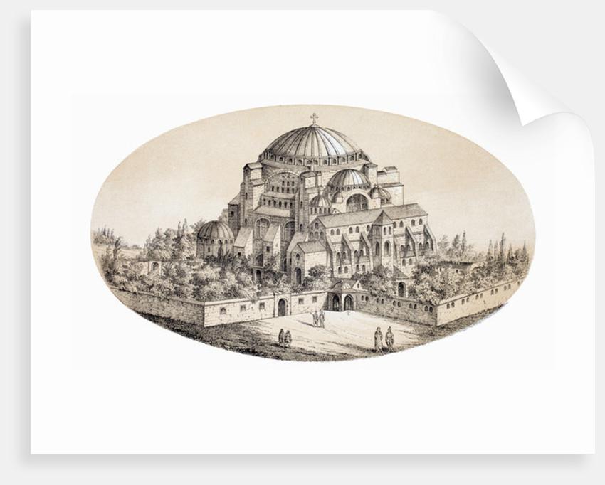 Aya Sofya Camii or St Sophia Basilika, Istanbul, Turkey by French School
