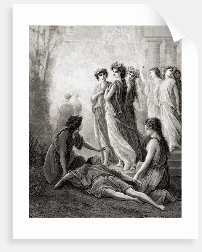 Daphnis et Alcimadure by Gustave Dore