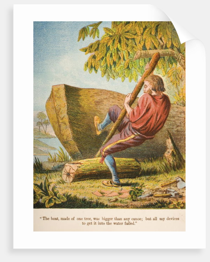The boat, made of one tree, was bigger than any canoe; but all my devices to get it into the water failed by English School