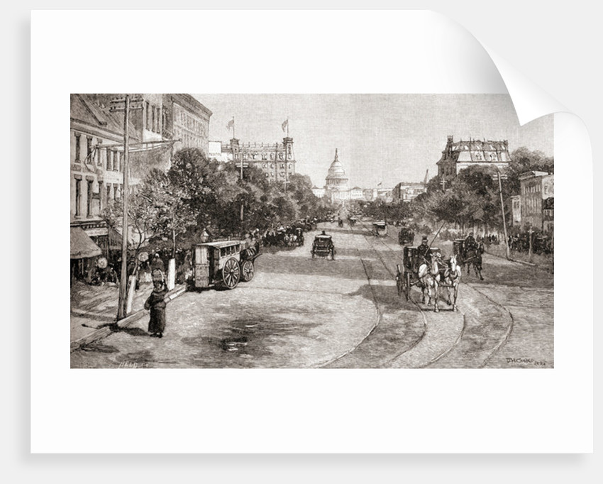 Pennsylvania Avenue, Washington D.C., in the 19th century by English School