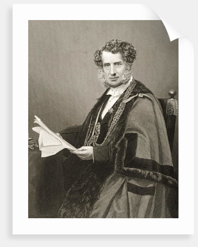 Sir Robert Walter Carden engraved by D.J. Pound from a photograph by John Jabez Edwin Paisley Mayall